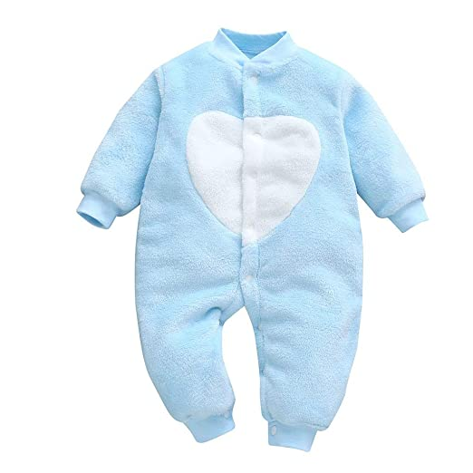 6296af776bf Amazon.com  OCEAN-STORE Newborn Baby Girls Boys 0-18 Months Loving Heart  Print Jumpsuit Romper Clothes Outfits  Clothing