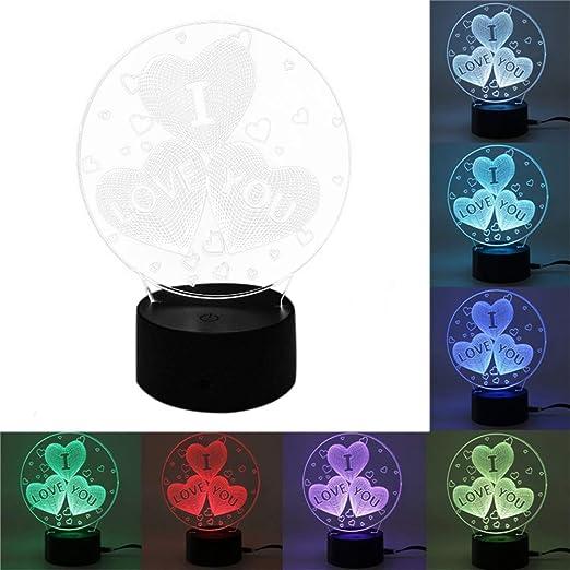 Super Día 3D Illusions lámpara, 7 Colores Cambiar iluminación + ...