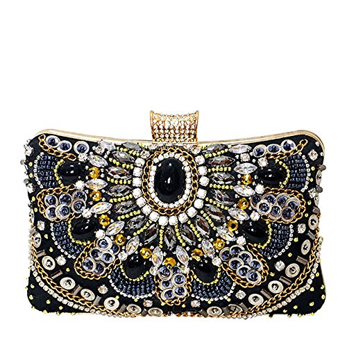 Cadena Bolsas De Bolsos Diamante Embrague De Para Noche Mujer Largesize Bolsa La Bolsa Costura Perlas De De f6znOYz