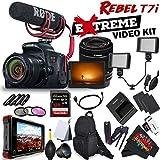 Canon EOS Rebel T7i DSLR Camera with 18-55mm Lens (International Model) + Rode VideoMic GO + Atomos Ninja Flame 7 4K HDMI Recording Monitor ATOMNJAFL2 + BATTERY FOR LPE17 Bundle