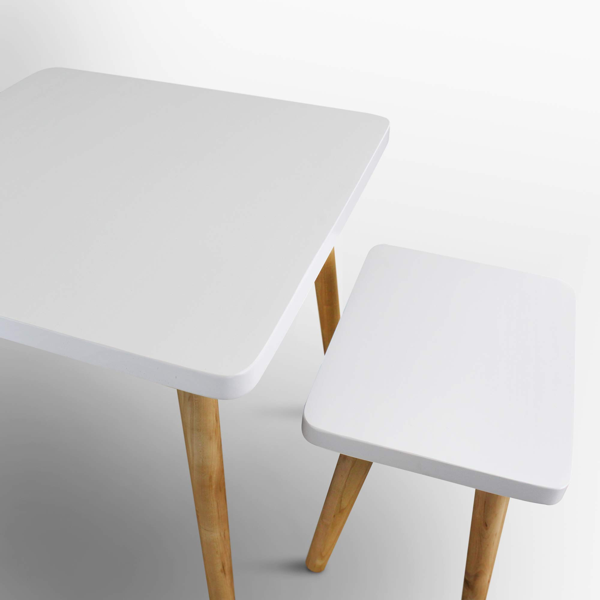 American Trails 560-31 The Easel Table & Chair Set Kid Table, Two-Tone (White, Natural) by American Trails (Image #7)