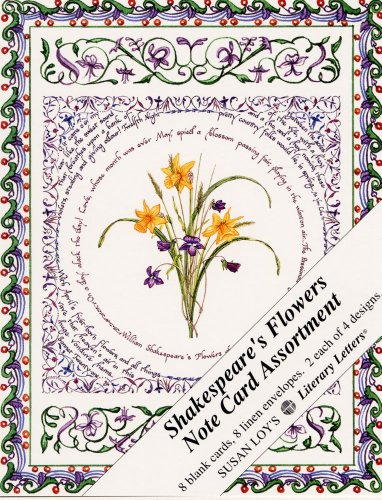 Shakespeare's Flowers Note Card Assortment