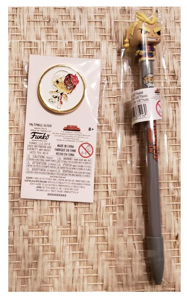 Funko Pop Pin My Hero Academia Todoroki Pin and All-Might Pen Bundle