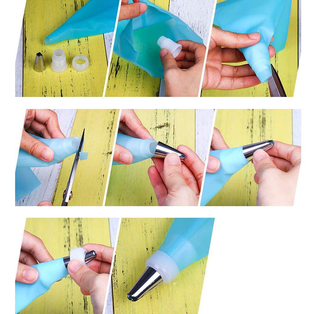 Cdrox Icing Piping Crema pasticcera Bag in Acciaio INOX ugelli punte Della pasticceria Converter FAI da te Torta che Decora gli attrezzi