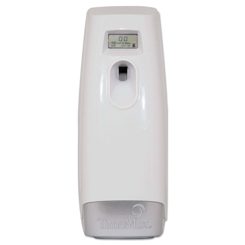 TimeMist TMS1048502EA Plus Metered Aerosol Fragrance Dispenser, 3.4'' x 3.4'' x 8-1/4'', White