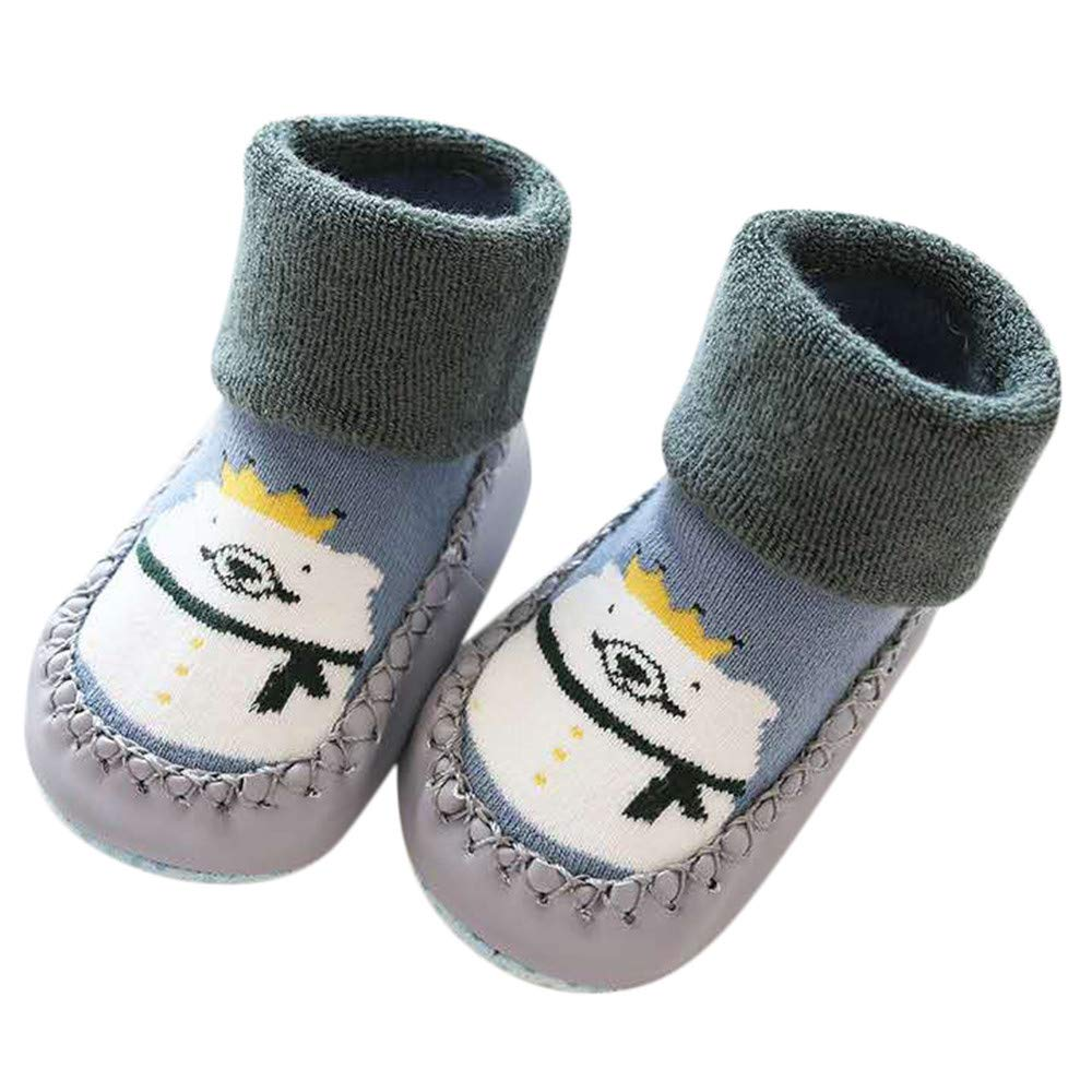 Little Kid Cute Cartoon Socks,Jchen(TM) Toddler Infant Baby Boys Girls Cartoon Animal Anti-Slip Shoes Knitted Warm Socks for 0-3 Years Old (Age: 0-6 Months, Coffee)