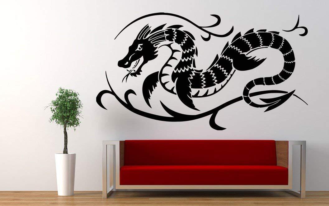 Dragon Flame Animal China Fire Wall decor Wall Decal Car sticker Window Sticker Vinyl sticker Handmade 4659