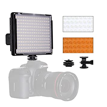 Pixel portátil LED Llenar luz 5600 K 192 Bombillas 30 Niveles Intensidad Regulable en cámaras de