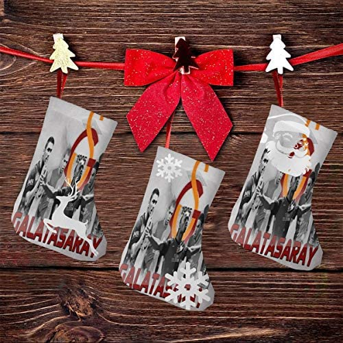 クリスマスの日の靴下 (ソックス3個)クリスマスデコレーションソックス トルコサッカー ガラタサライ クリスマス、ハロウィン 家庭用、ショッピングモール用、お祝いの雰囲気を加える 人気を高める、販売、プロモーション、年次式