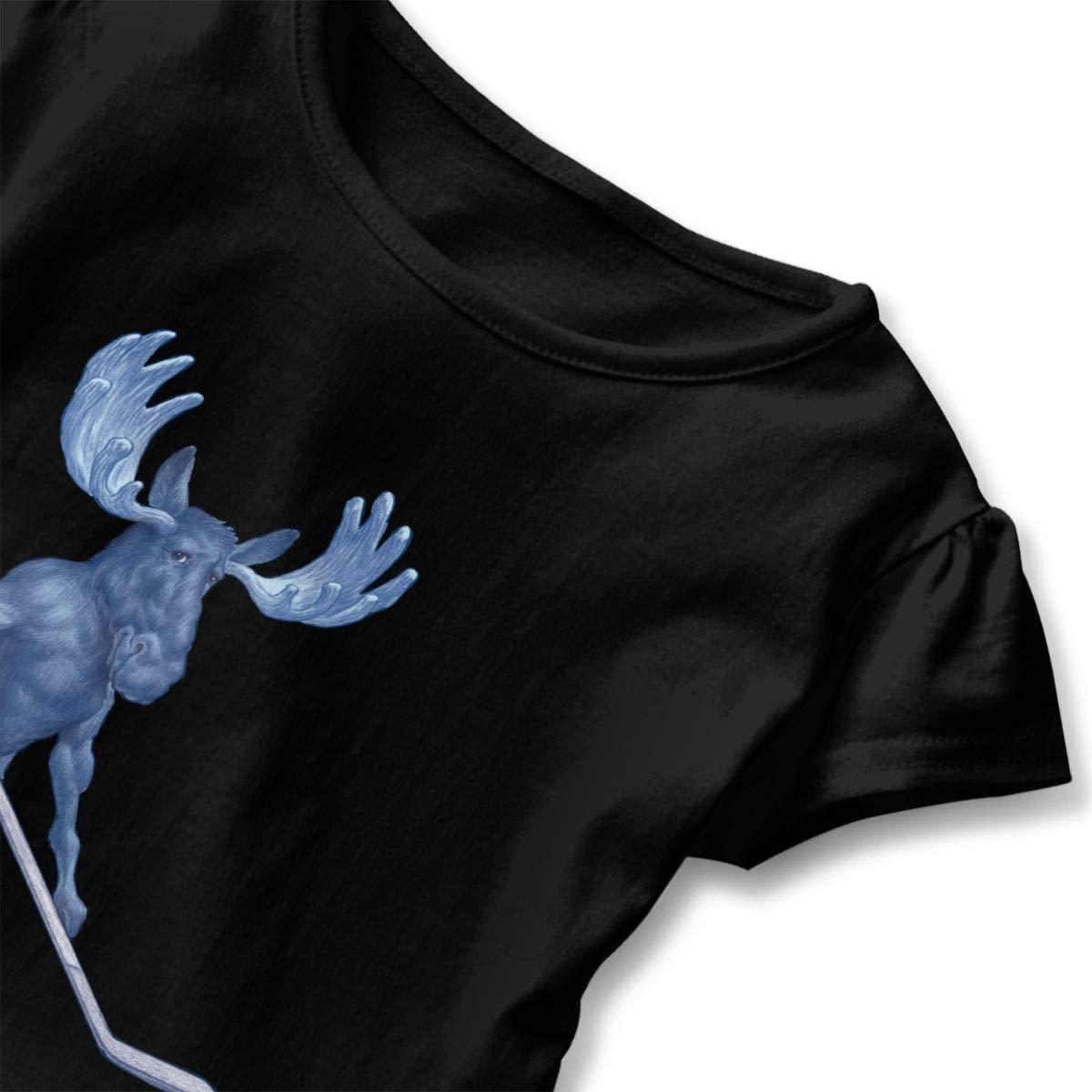JVNSS Blue Moose Shirt Printed Toddler Flounced T Shirts Shirt Dress for 2-6T Baby Girls