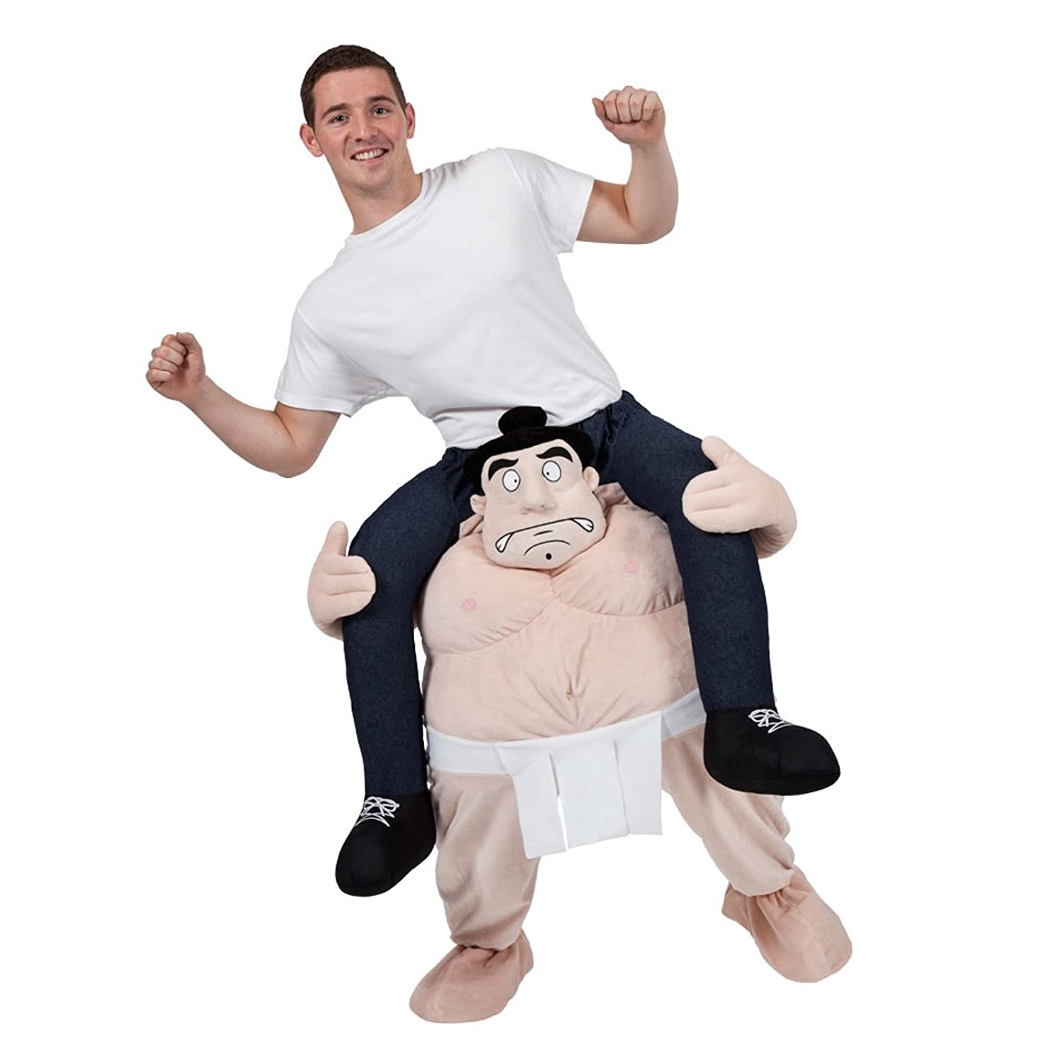 CRAZY SUMO WRESTLER CARRY ME MASCOT FANCY DRESS COSTUME