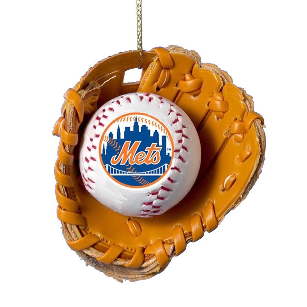 Amazon.com: Kurt Adler New York Mets Baseball in Glove Ornament ...