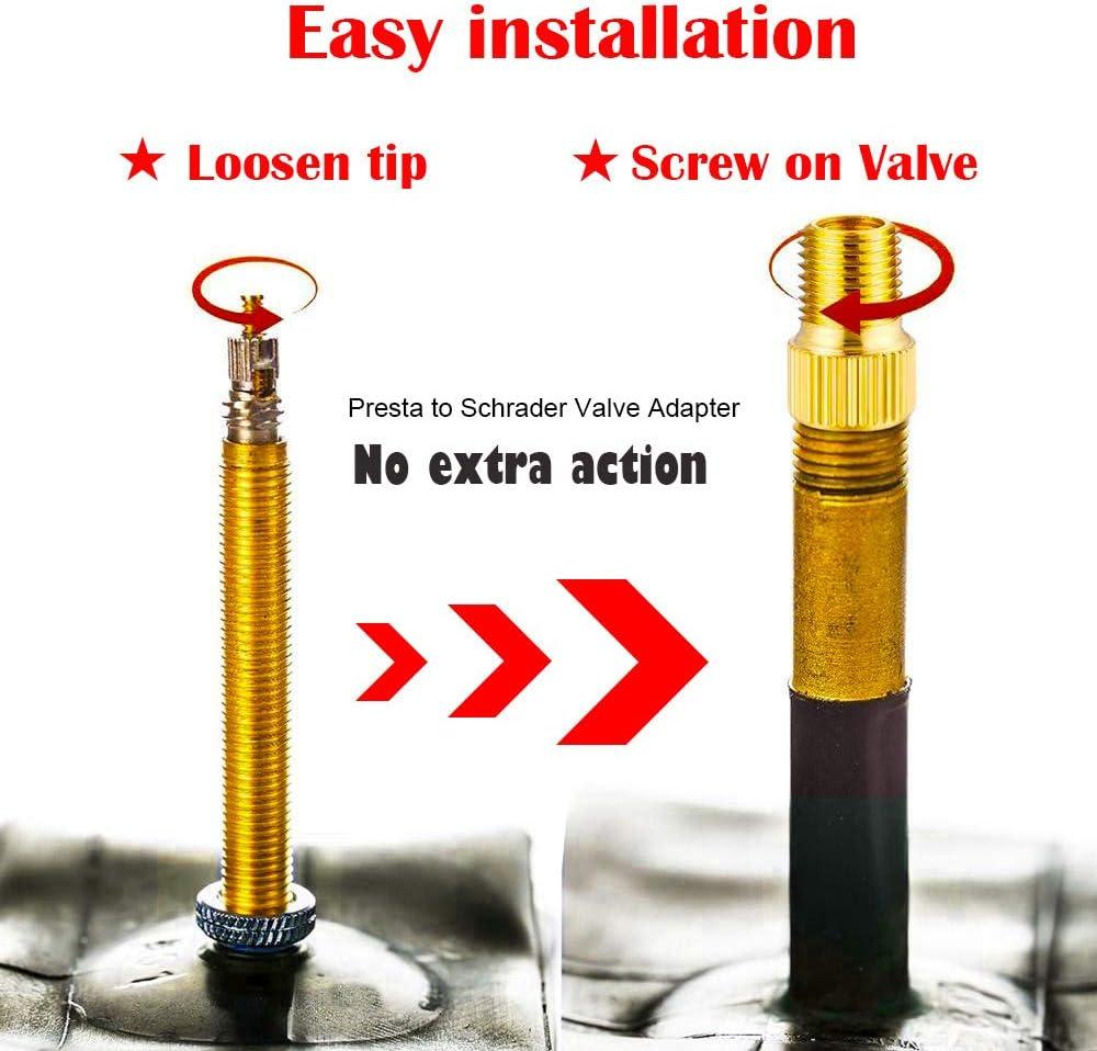Bike Tire Ball Pump Needle 21PCS Brass Presta Schrader Valve Adapter Tools