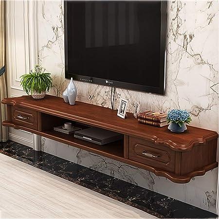 ZPWSNH Mueble de Estante para televisor montado en la Pared Estante de Juegos de Consola de Entretenimiento Multimedia con cajones para el hogar Mueble para TV de Pared (Color : Brown): Amazon.es: