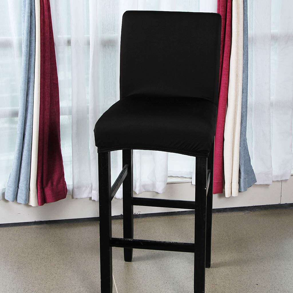Brown B Blesiya Solid Color Dining Room Chair Seat Cover Bar Stool Slipcover Party Decor