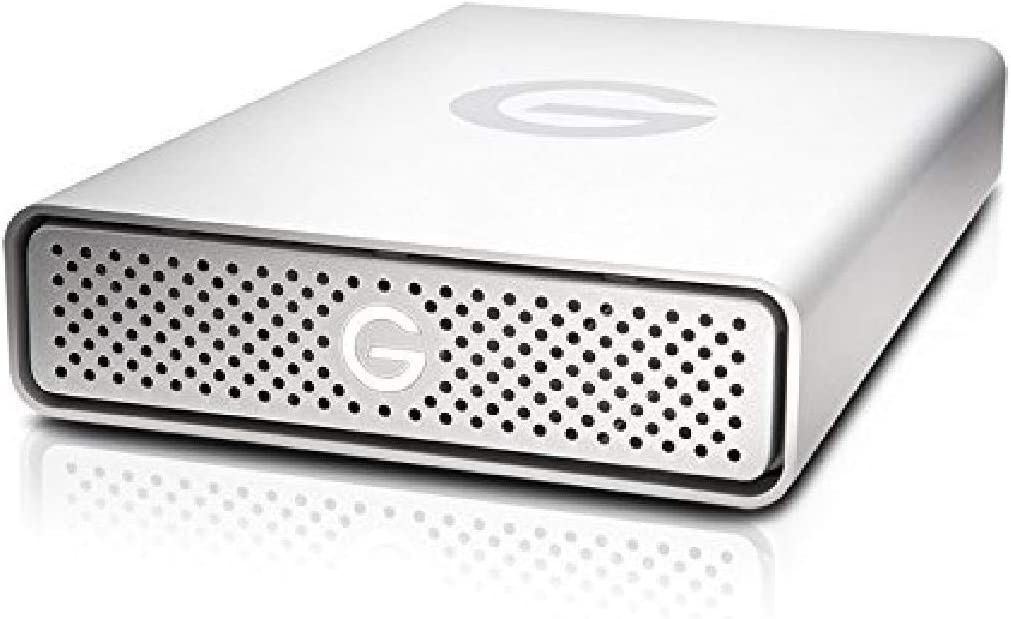 G-Technology 6TB G-DRIVE USB 3.0 Desktop External Hard Drive, Silver - Compact, High-Performance Storage - 0G03674-1