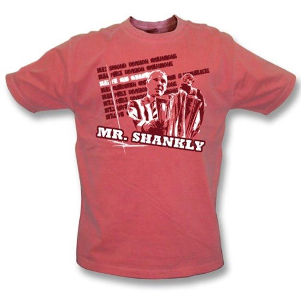 PunkFootball La camiseta del lavado lavado lavado del vintage de Sr. Shankly grande, colorea rojo f7e30e