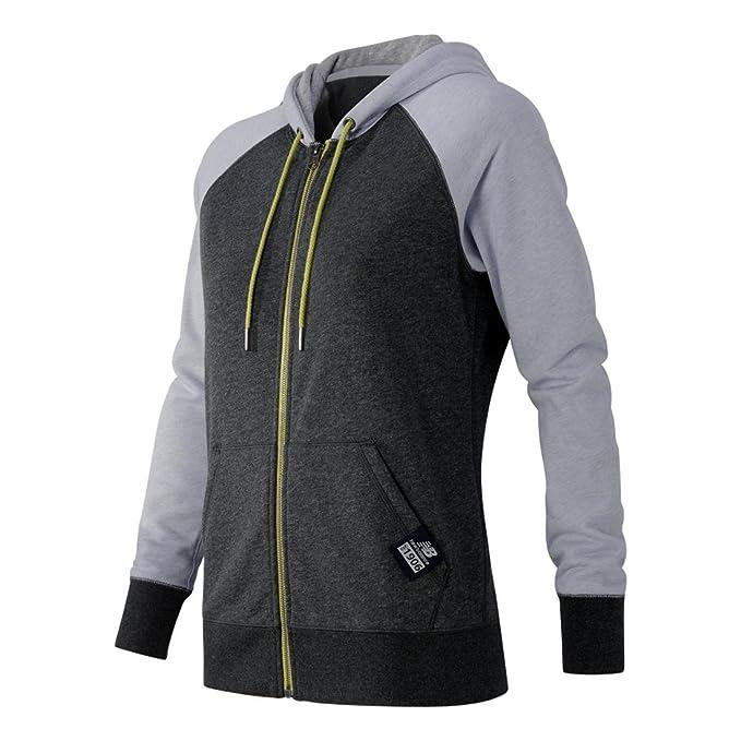 77a74c7320b54 New Balance Women's Essentials Plus Full Zip Fleece Hoodie, Heather  Charcoal, Medium