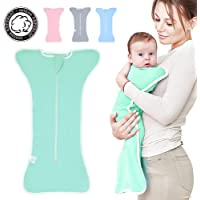 NARUTOO Baby Swaddle Sack, Pure Cotton Newborn Blankets Baby Muslin Swaddle Sleeping Bag 2-6 Months (Green)