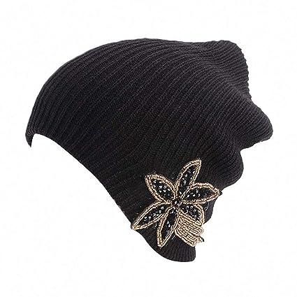 1faea3085f4 Womens Mens Skullies Beanies Hat Winter Hats for Women Muslim Scarf Cap  Rhinestones Head Wear Hat