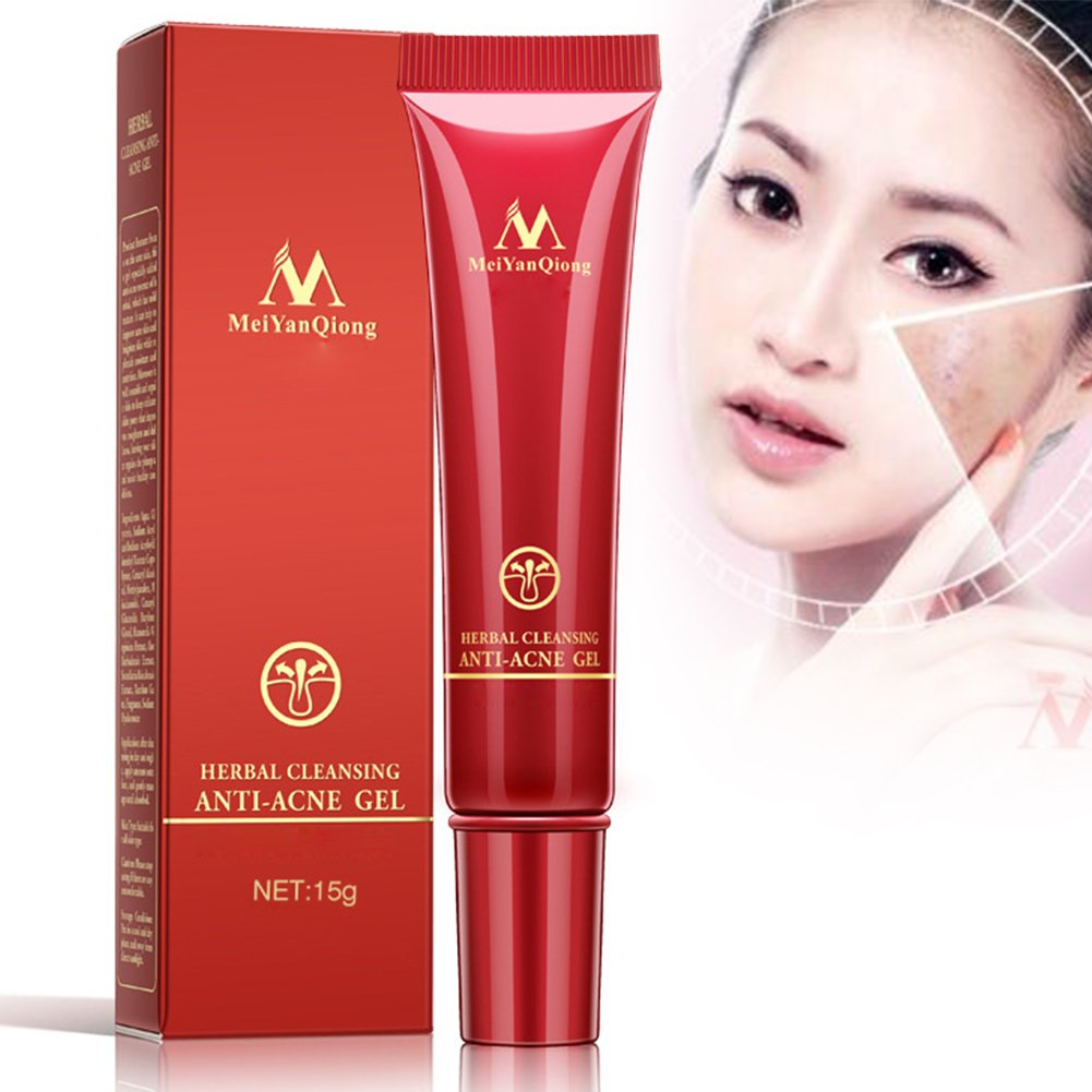 Anti Acne Cream, Herbal Acne Removal Cream, Acne Cleaning Ointment, Get Rid of Acne Spots, Brighten the Skin (15g) Cherioll