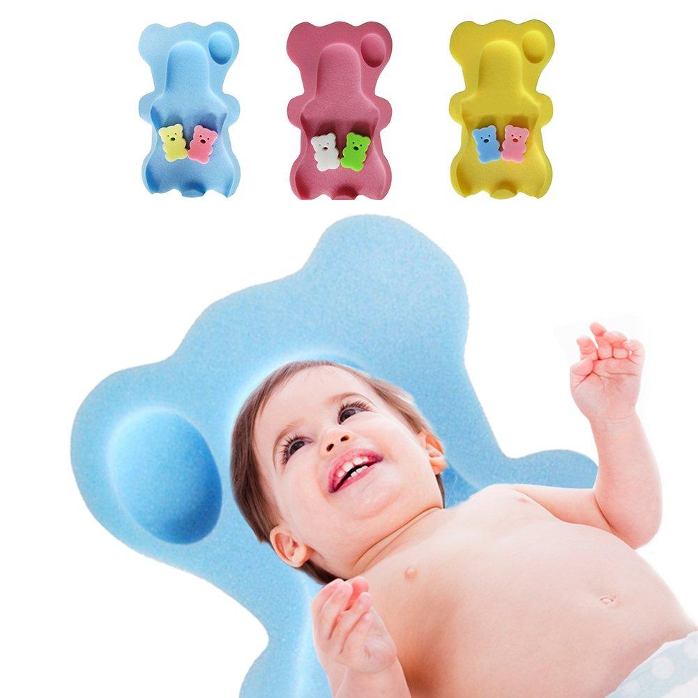 Samber Esponja de Baño para Bebé Alfombra de Ducha Antideslizante Almohadilla Bebé de Bañera de Seguridad