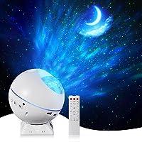 LED Star Sky Projector Light - Ocean Wave Projector Lamp,Galaxy Night Light with Music Speaker,Sound Sensor,360°Rotating…