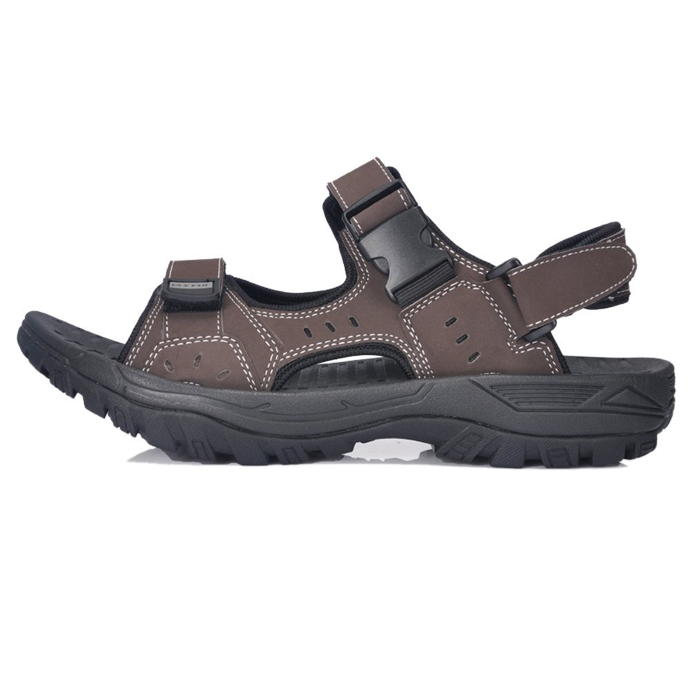 Sanfeet Mens Summer Skidproof Outdoor Sandles Beach Sandals Brown 42