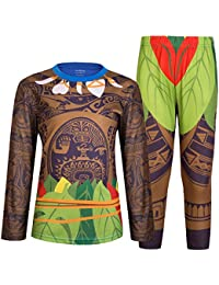 Moana Maui Halloween Costume Cosplay for Little Boy Pajamas Kids Toddler Sleepwear