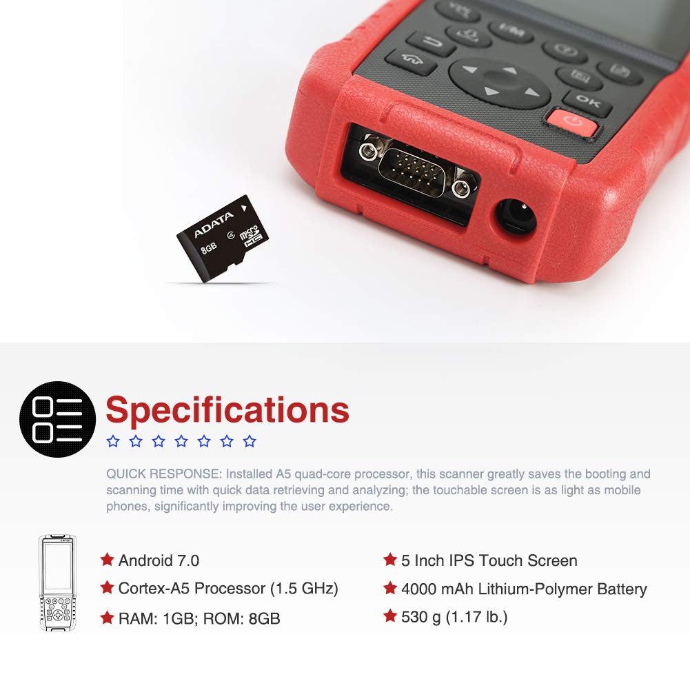 LAUNCH CRP429 OBD2 Scanner Diagnostic Scan Tool SRS ABS Full System Code Reader Reset Functions of Oil Reset, EPB, BMS, SAS, DPF, ABS Bleeding, Injector Coding and IMMO (Advanced version of CRP429C) by LAUNCH (Image #4)