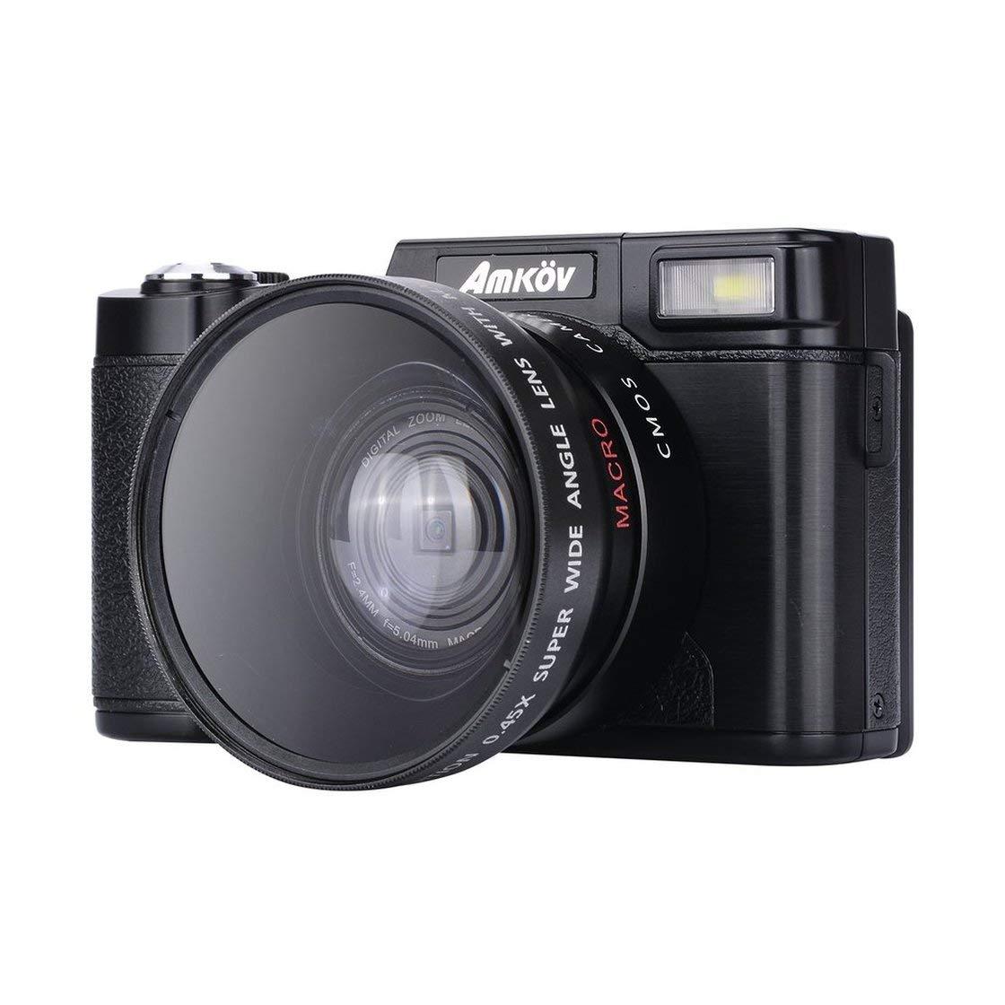 CDR2 24メガピクセル 1080P HD ミニデジタルカメラ 4倍 デジタルズームカメラ 3.0インチTFTディスプレイ&美容セルフタイマー機能付き ZRX   B07L5L74H5