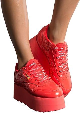 hierro hogar Cha  Amazon.com: REEBOK x Gigi Hadid Classic Zapatillas de cuero con triple  plataforma: Clothing