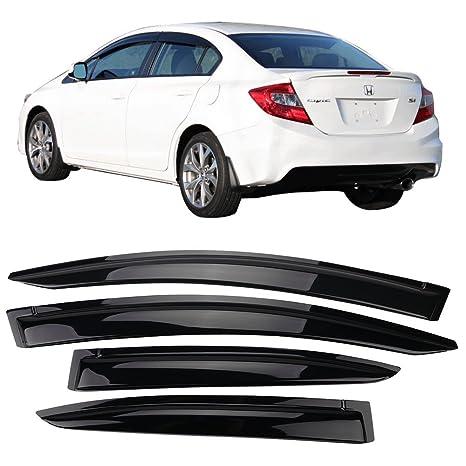 Amazon.com  Window Visor Fits 2012-2015 Honda Civic 4Door Sedan ... d04459171ae