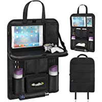 Back Seat Car Organizer, Car Organizer for Kids Toy Bottles Storage Foldable Dining Table Clear Tablet Holder Family…