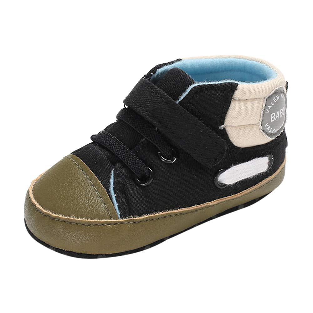 NUWFOR Infant Newborn Baby Girls Boys Letter Print Winter Boots Prewalker Warm Shoes(Black,6-12Months)