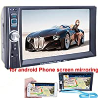 PolarLander 6.6 Inch Touch Screen HD Universal 2 Din Car Radio Audio Stereo Support Bluetooth Rear Camera Input USB Cable Screen Share for Android