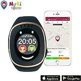 MyKi GPS Uhr Kinder, Smartwatch mit GPS Tracker, Handy Ortung, SOS und App Tracking in Deutsch (Schwarz)