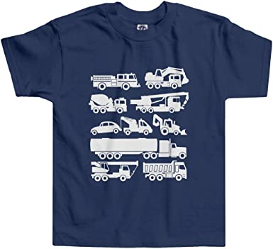 6T Cotton T-Shirt Top Shirt for Kids and Toddlers 2T Jessiecomfort Boys Long-Sleeved Shirt Digger Truck Theme