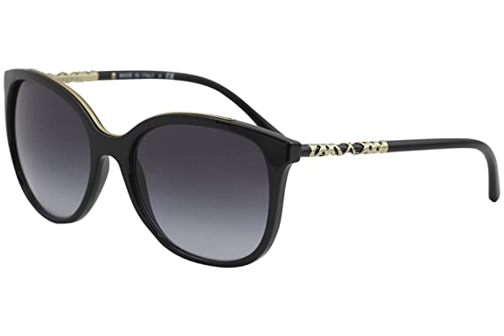 a4b9a9bde6 Amazon.com  Burberry Women s 0BE4237 Black Gray Gradient Sunglasses ...
