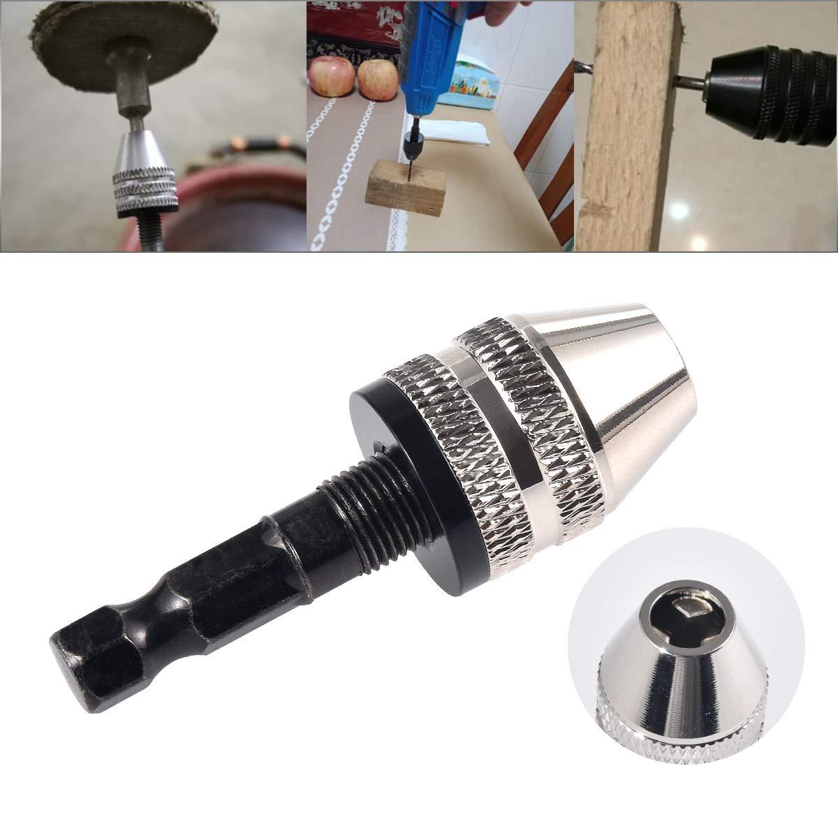 3,4/mm Bohrer Maschine f/ür micro-production oder Medical Industrie HOHXEN Keyless-Mini 3-jaw-Schnellspannbohrfutter Schraubendreher Adapter mit Schnellwechsel-2,35/mm rund Schaft zu halten Lupe 0,3