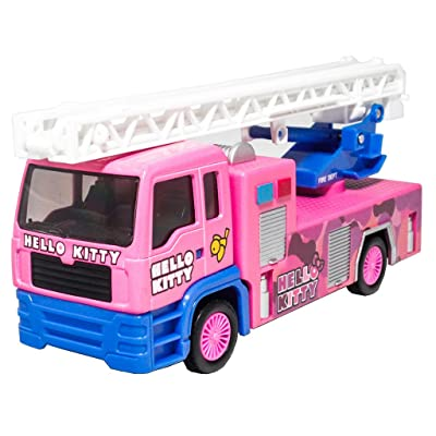 SANRIO Hello Kitty Die-Cast 6 inch Fire Ladder Truck Pink Model Genuine License Product Size: 17cm x 6.5cm x 5cm: Toys & Games