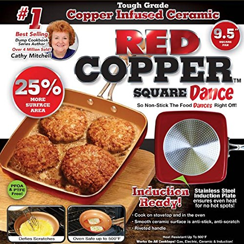 Red Copper 9.5 Square Dance Pan by Red Copper (Image #1)