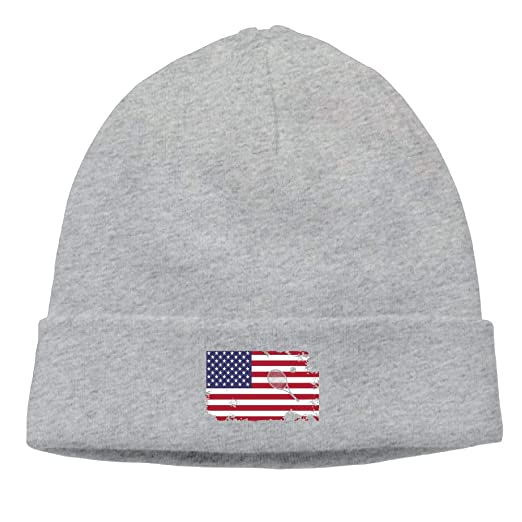American Flag Tennis Unisex Solid Color Beanie Hat - Stretchy   Soft Winter  Knit Cap at Amazon Men s Clothing store  dd51bebe2da
