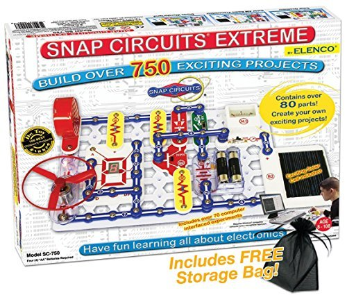 (Snap Circuits Extreme - 750 with FREE Storage Bag)
