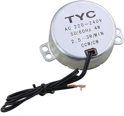 4/W Argent/é BQLZRN00779 Torque 3/Gf.cm Petite machine synchrone solide TYC-50 CW//CCW BQLZR 220V CA