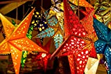 Unique Arts & Interiors Multicolored Hanging Star shaped Lantern, Paper