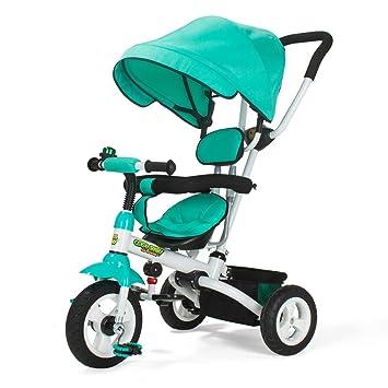 Xiaoping Triciclo infantil carrito plegable de un solo botón 1-5 Bicicleta bebé bicicleta infantil