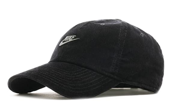 1d1c69b37e7cd Amazon.com  NIKE Unisex Sportswear Heritage 86 Cap MTL Futura Cord  (Black Dark Antique Black