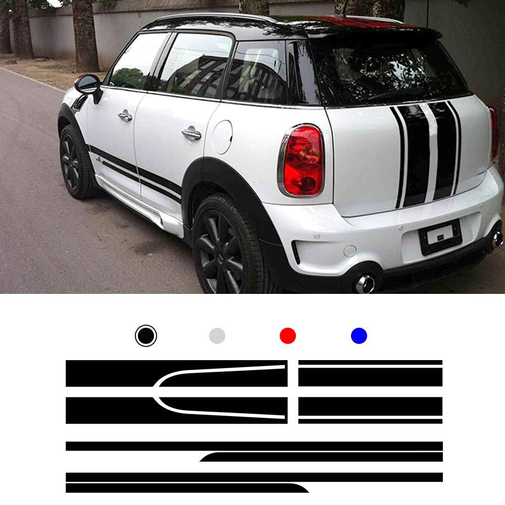 ALLYARD for BMW Mini Universal Car Body Door Side Decoration Decal Bumper Stripe Skirt Sticker Black type4