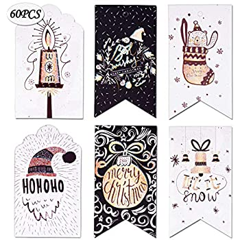 amazon com 100 pack of large christmas gift tags in 10 assorted